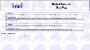 First BU home page