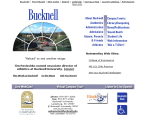 2nd Interation of Bucknell Website